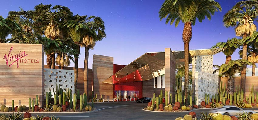 Render of Virgin Hotel in las vegas