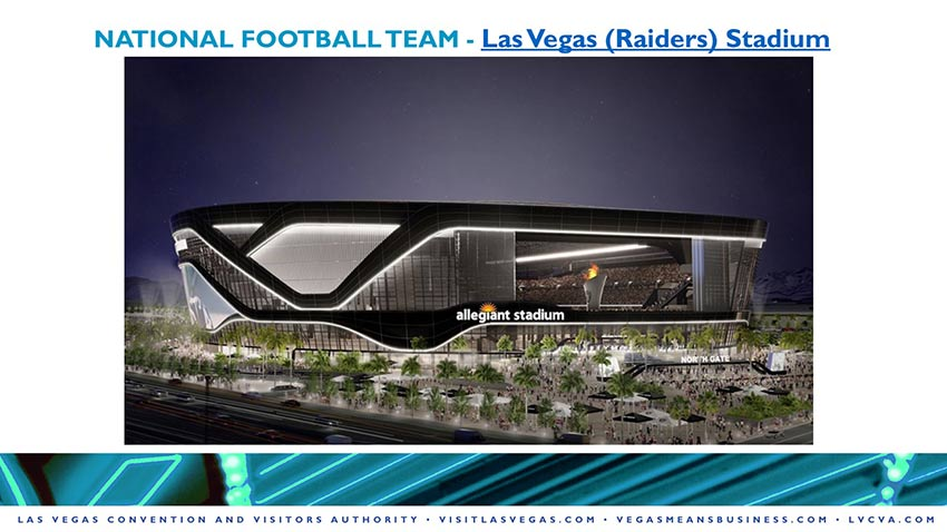 Render of las vegas raiders allegiant stadium
